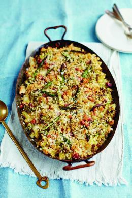 Rome_Recepten_gebakken_pasta_met_asperges