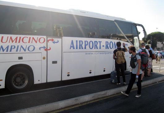 Rome_shuttlebus-vliegveld