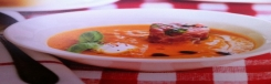 Crème van geroosterde tomaten, tonijn en geitenkaas